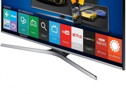 """Smart TV LED 48"""" Samsung UN48J5500AGXZD Full HD - Conversor Integrado 3 HDMI 2 USB Wi-Fi com as melhores condições você encontra no Magazine Tonyroma. Confira!"""