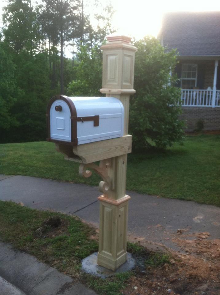 Custom Mailbox Post Wood Working Pinterest Custom