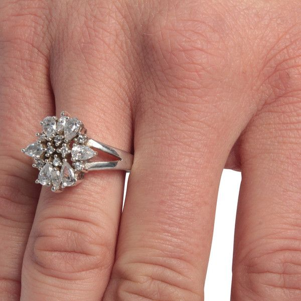 Diamond engagement rings ($3,634) ❤ liked on Polyvore featuring jewelry, rings, adjustable engagement rings, diamond jewelry, teardrop diamond ring, flower engagement ring and adjustable diamond ring
