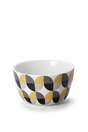 Geometric colour block patterned bowl from Country Road- oh so 70s!