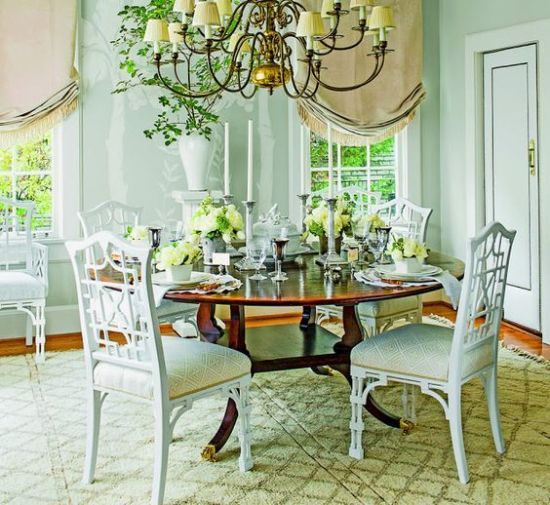 The Gracious Posse   Updating Brown Dining Room Chairs