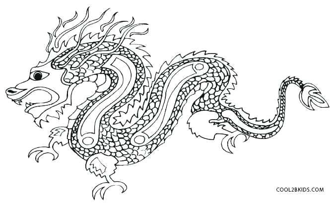 Chinese Dragon Coloring Pages Beautiful On Picture Free China At