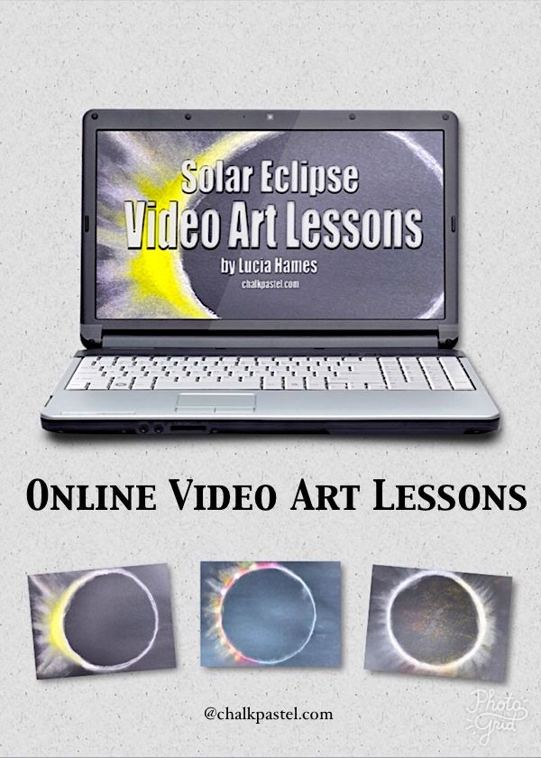 Celebrate the solar eclipse with art! Online video art lessons for all ages - you ARE an artist!