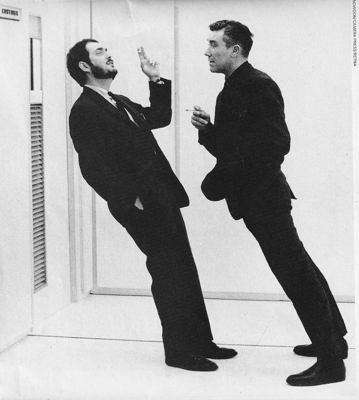 """Stanley Kubrick on the set of """"2001: A Space Odyssey"""" (1968)"""