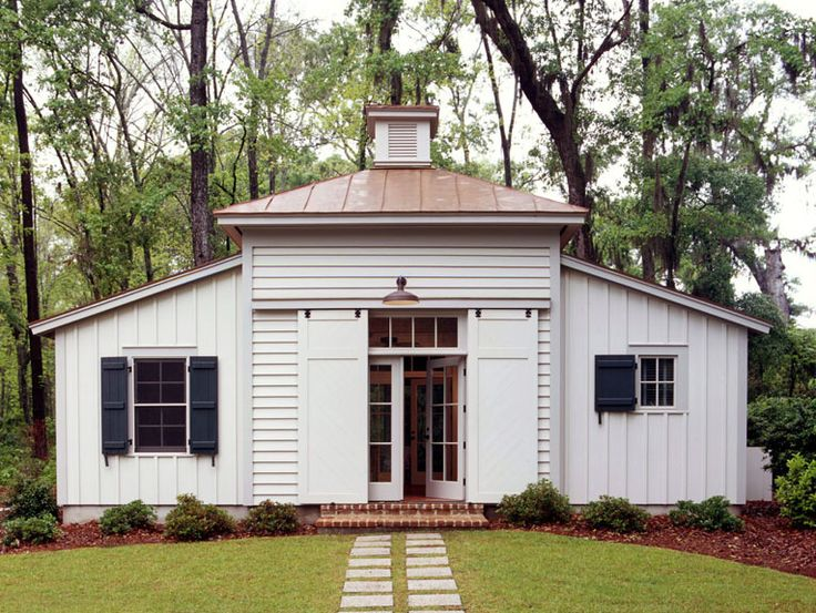 shed / guest house | spring islandGuest Cottages, Historical Concept, Barn Doors, Guesthouse, Traditional Exterior, Barns Doors, Guest Houses, South Carolina, Sliding Doors