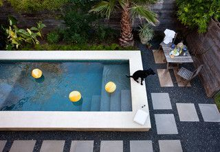 East Austin Dipping Pool and Courtyard - contemporary - pool - austin - by B. Jane Gardens