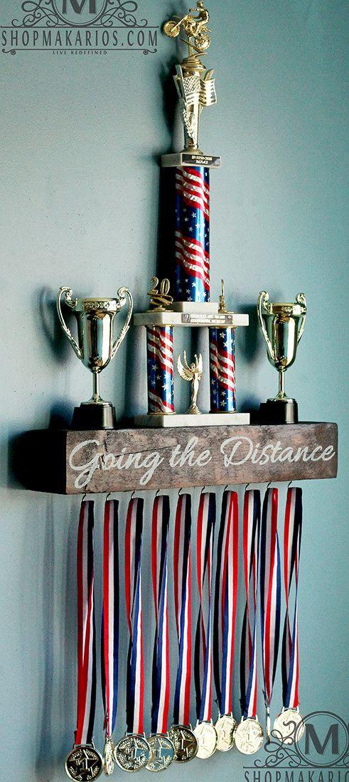 Custom Trophy Shelf by Shop Makarios- Trophy Case - Trophy Wood Shelf