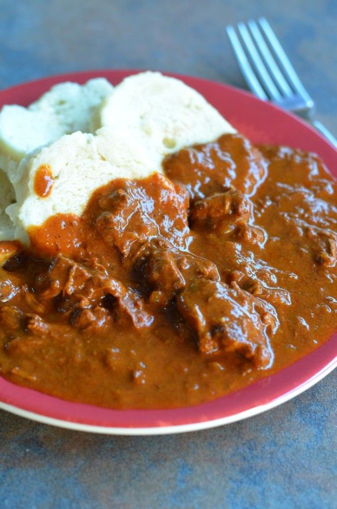 Czech Goulash -a traditional Czech dish