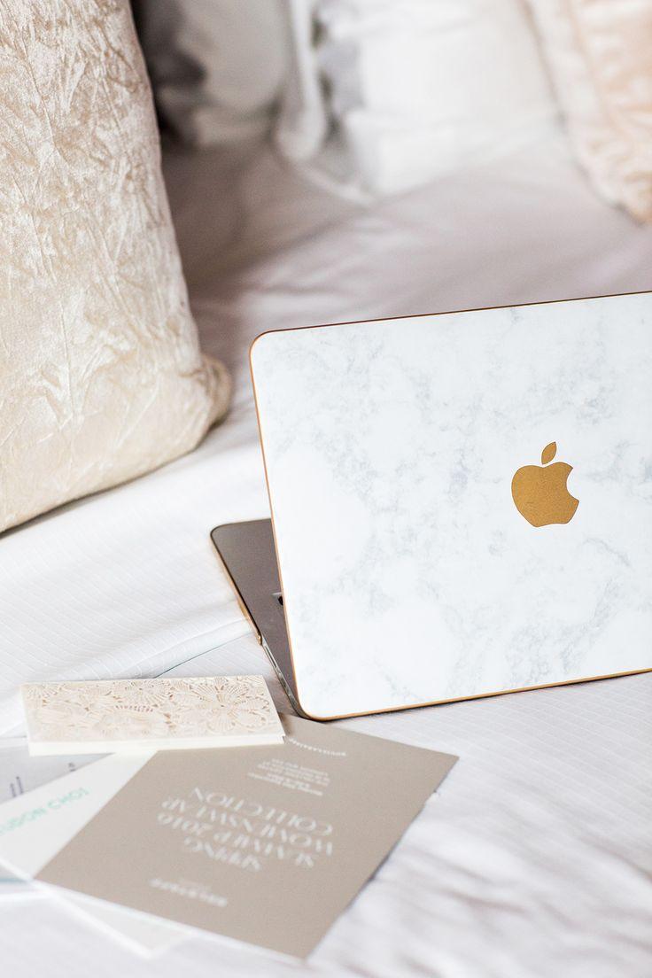 Marble laptop skin.