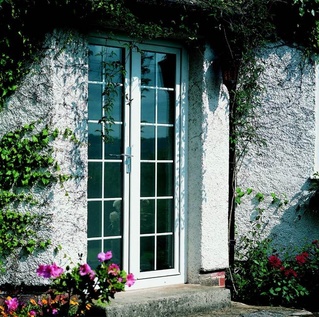 Narrow French doors