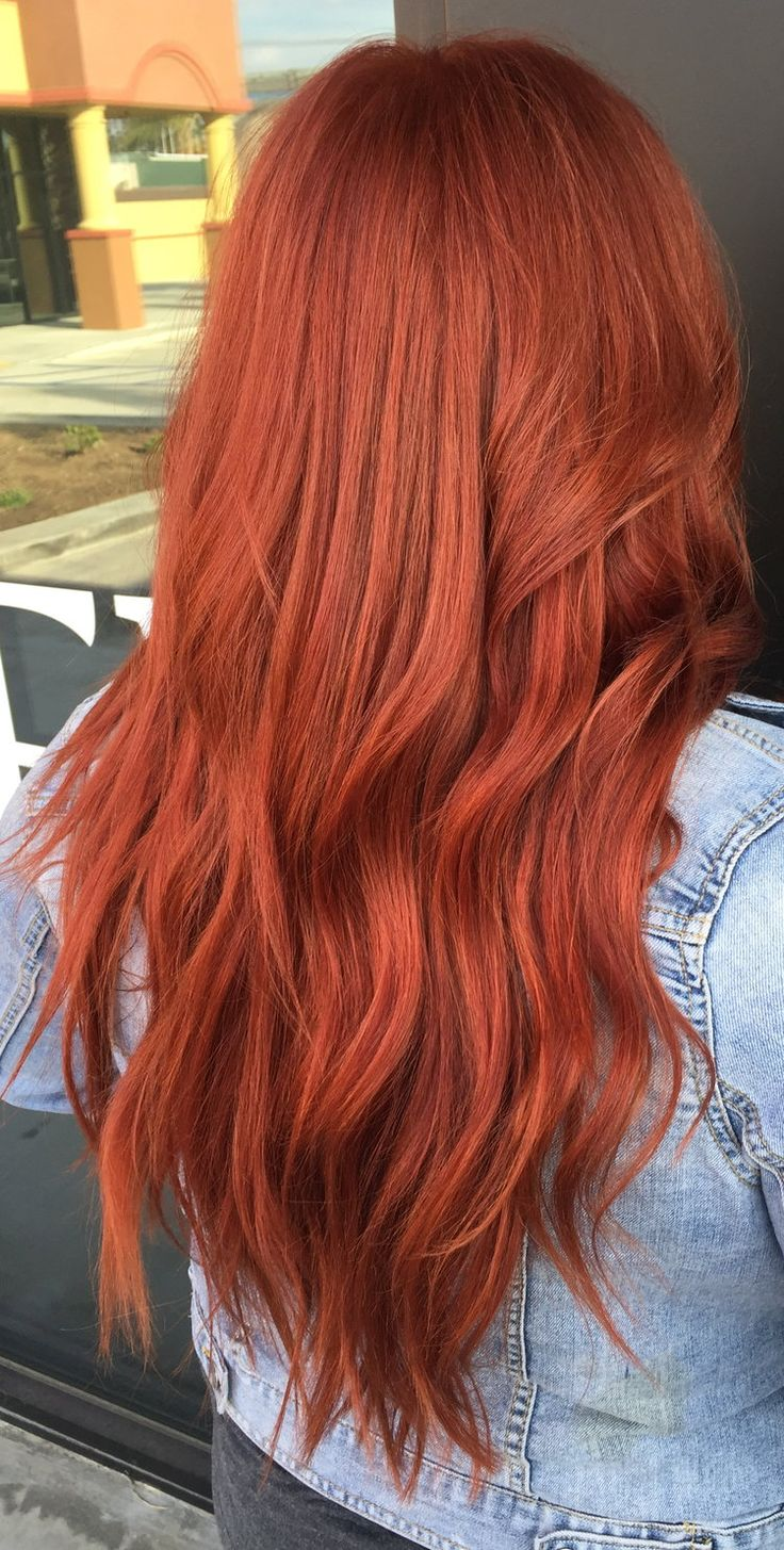 Copper Red Hair using Redken color | Hair color orange ...