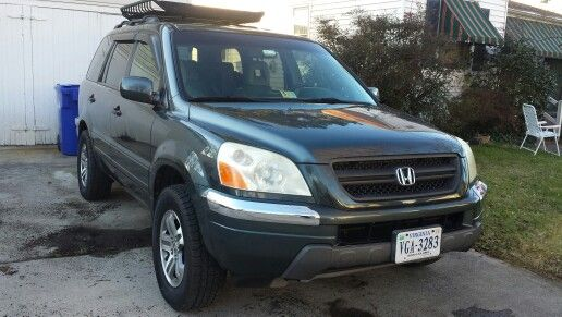 "2005 Honda Pilot exl 1"" wheel spacers Roof basket"