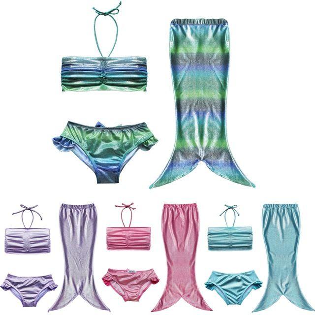 2015 HOT belle fille enfants Swimmable queue de sirène maillots de bain enfants Bikini maillot de bain maillot de bain vêtements de plage bébé maillot