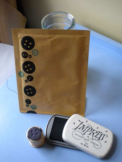 Home-made button stamps