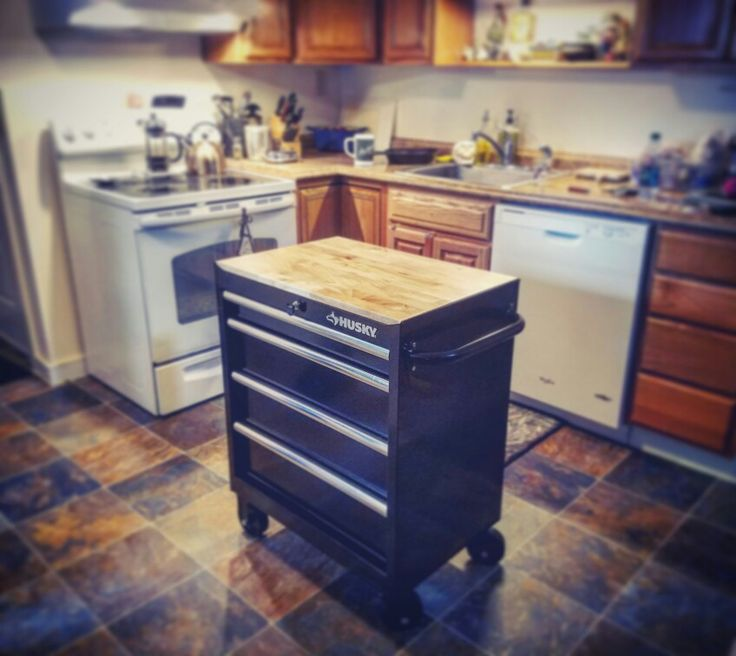 Kitchen Cabinets Online Design Tool: Husky Toolbox Kitchen Island