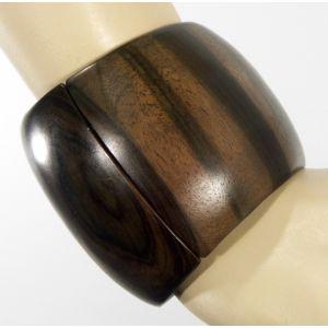 ** Monies Kamagong Wood Cuff Bracelet