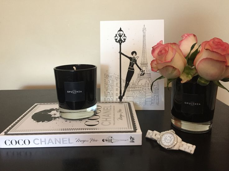 Black glass soy scented candle, Megan Hess book and print www.opulenza.com.au
