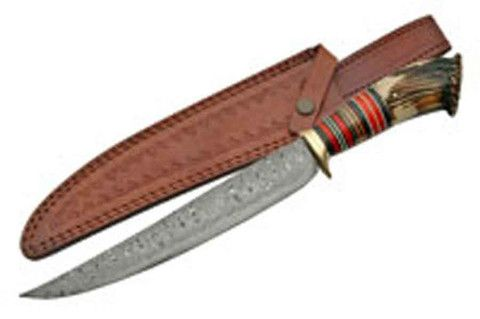 """Upsweep Crown Damascus Bowie 15.5"""" – Black Squirrel Outdoors"""
