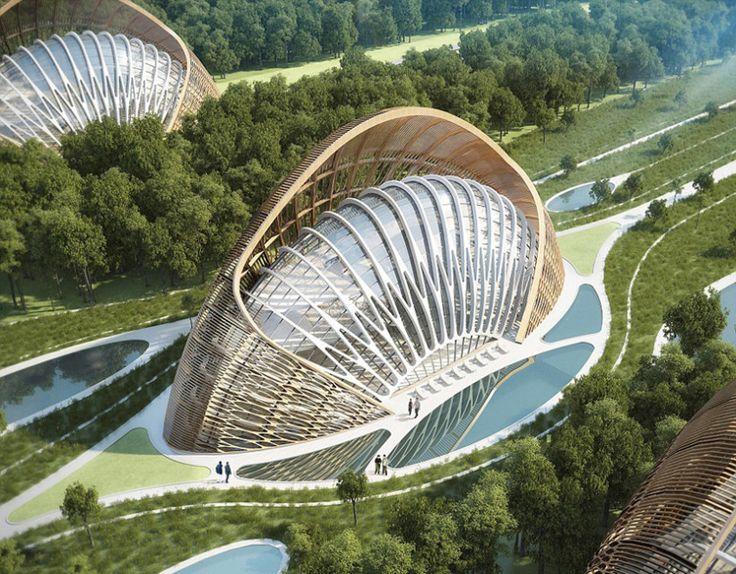 un architecte belge con oit une ville cologique futuriste