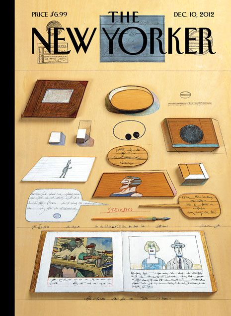 """Cover of the Dec. 10, 2012 issue - Saul Steinberg's """"Union Square, 1973"""" is featured on the cover of this week's issue. Click-through for words on the artist from his friends and biographers, and for a slideshow featuring some of the 87 New Yorker covers he published in his lifetime: http://nyr.kr/QWcgjT"""