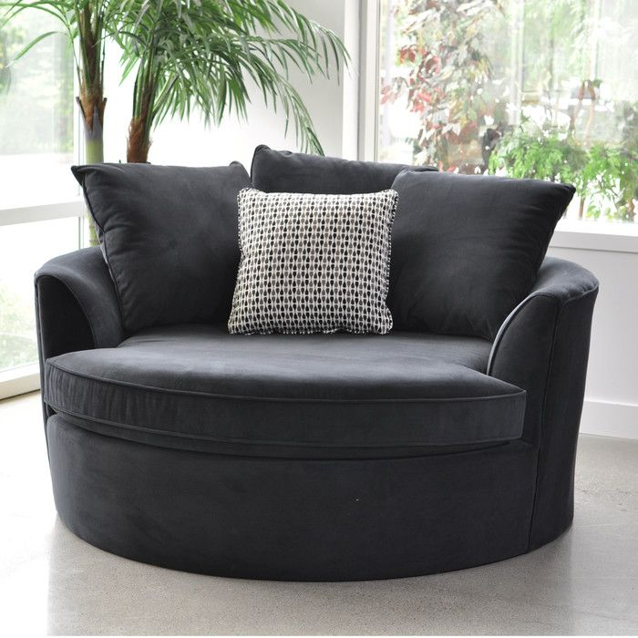 Create Your Own Comfort Zone With The Cuddler Chair. This Oversize Round  Chair Comfortably Fits Two People. Covered In A Durable Microfiber Fabric  For Years ... Part 56