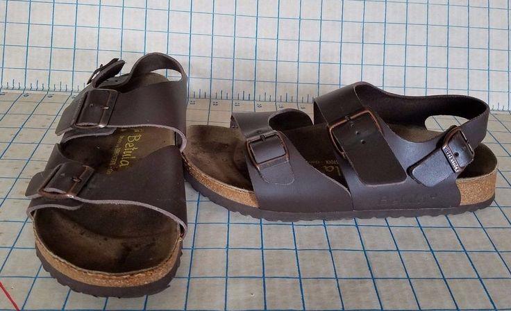 Birkenstock Betula Sandal Triple Ankle Strap Leather Brown UNISEX L 9 M 7 #Betula #Sandals