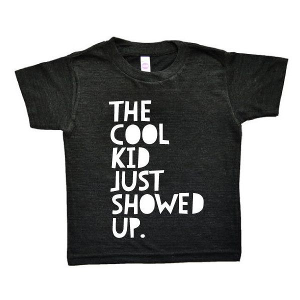 COOL KID Tee, Toddler t-shirt, Trendy kids clothes, Hipster kids... (29 AUD) ❤ liked on Polyvore featuring baby boy clothes, baby stuff, kids and tops