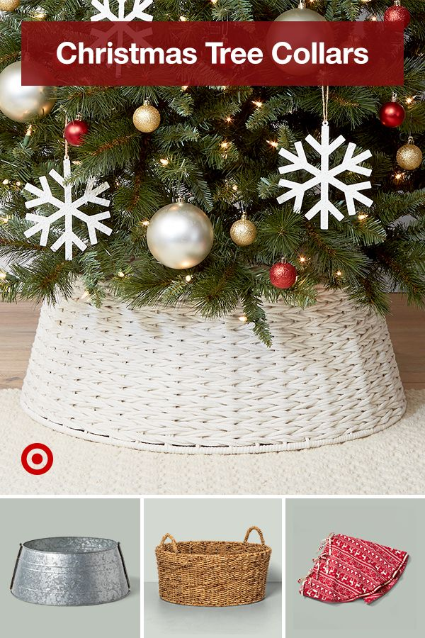 Find Ideas To Style Your Christmas Tree With A Collar Or Skirt To