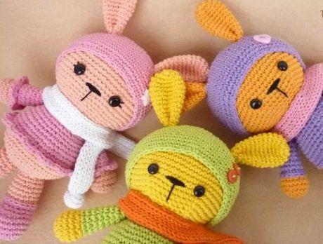 Rabbit beautiful crochet pattern with - Crochet Designs Free