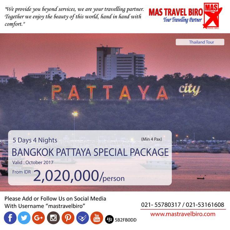 Mas Travel Biro punya promo Bangkok Pattaya Special Package. 5 Hari 4 Malam dengan harga Rp 2.020.000 (Min 4 pax)  Buruan booking dan Hubungi👇 Phone : 021 55780317 WA : 081298856950 Email : tourhotel.metos@mastravelbiro.com  #mastravelbiro #promotravel #travelagent #tourtravel #tahiland #bangkok #pattaya