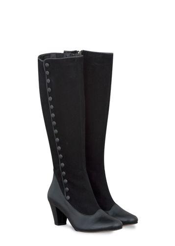 black button boots