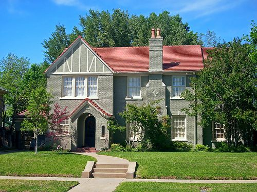 painted tudor brick house - Google Search