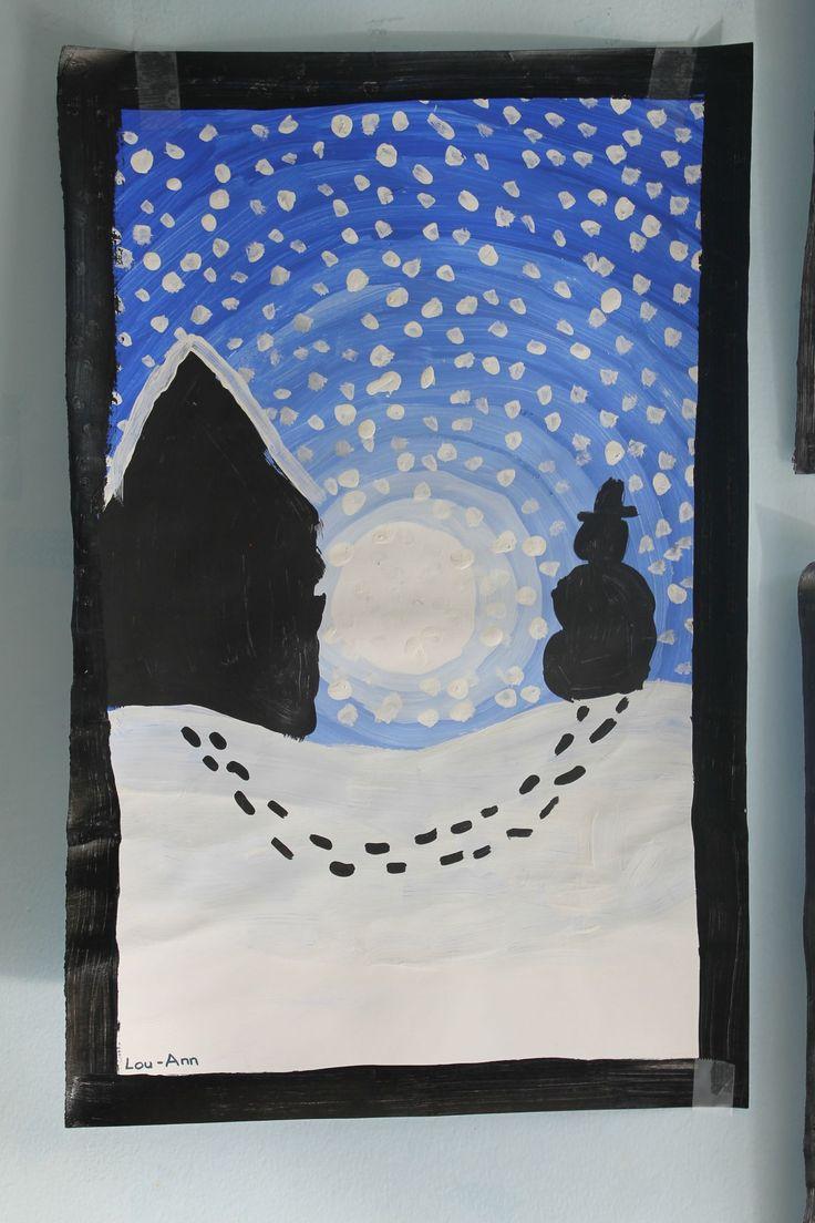 09 - Arts visuels - les paysages d'hiver 2