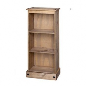 Corona Mexican Pine Low Narrow Bookcase CR948