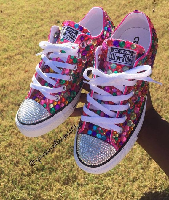 385523b29b93 Colorful BLING converse by XpressiveDesigns101 on Etsy