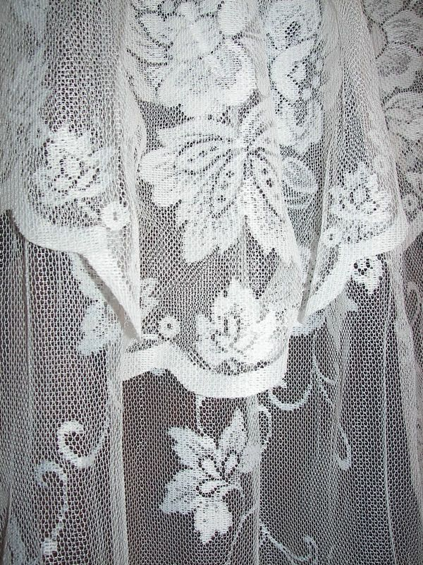 Lovely Net Lace Shower Curtain