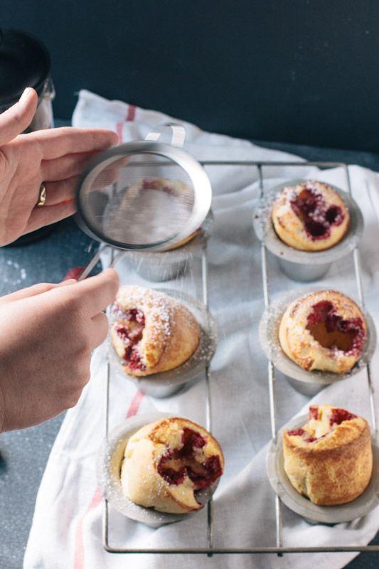 Raspberry Popover Recipe - great for Christmas morning!  #christmasrecipe #breakfast