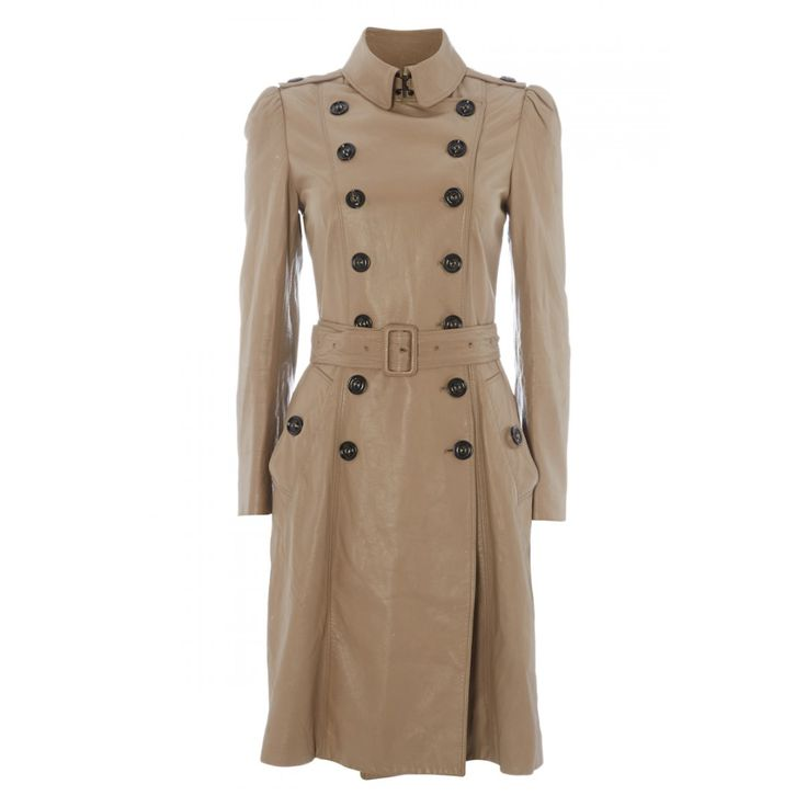 Burberry London Leather Trench Coat; UK: 10; £460 on @covetique