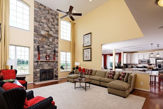 17 best images about two story living room ideas on Model home family room pictures