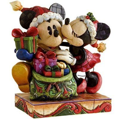 "Mickey and Minnie ""A Christmas Kiss"" by Jim Shore"