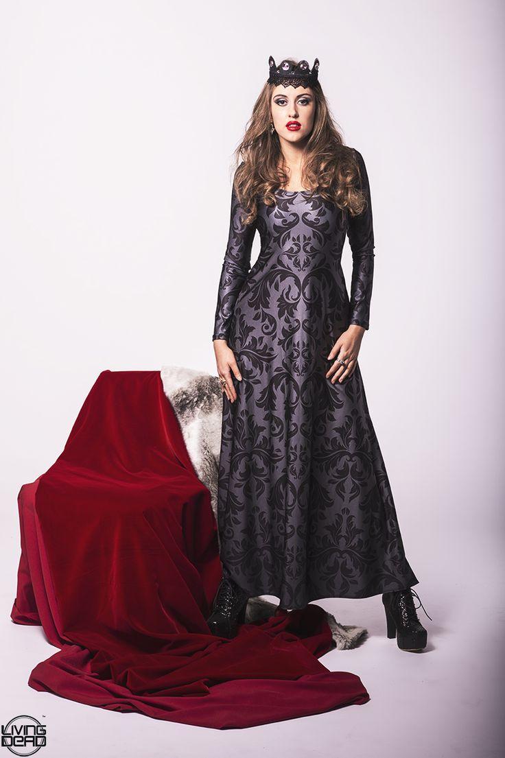 Black Damask Maxi Dress - $120.00