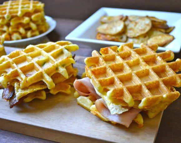 ... wraps forward jalapeño cheddar cornmeal waffles jalapeño cheddar