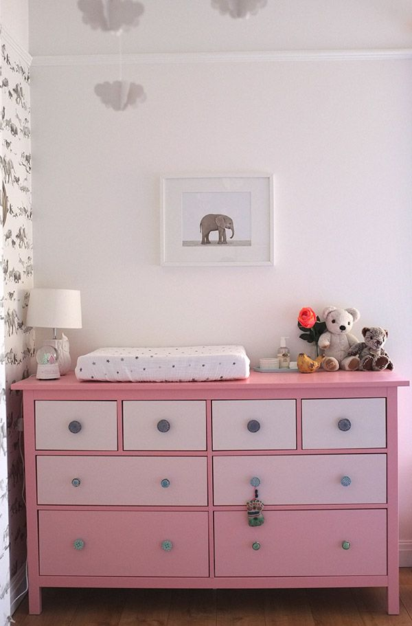 Real Rooms: A Modern Animals Nursery // IKEA Hemnes 8 drawer chest hack