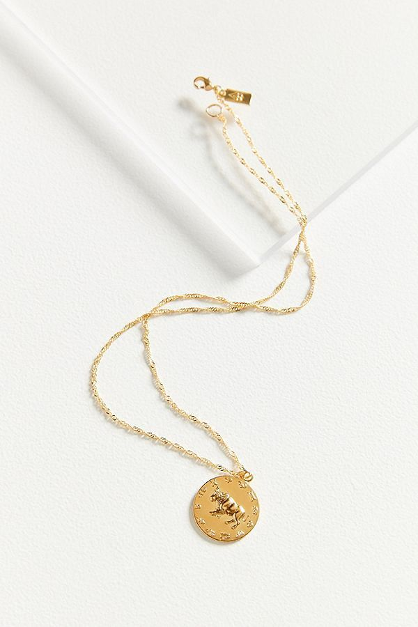 Zodiac Star Mate Medallion Necklace Cam Urbanoutfitters Com Show Off Your Astrological Sign With