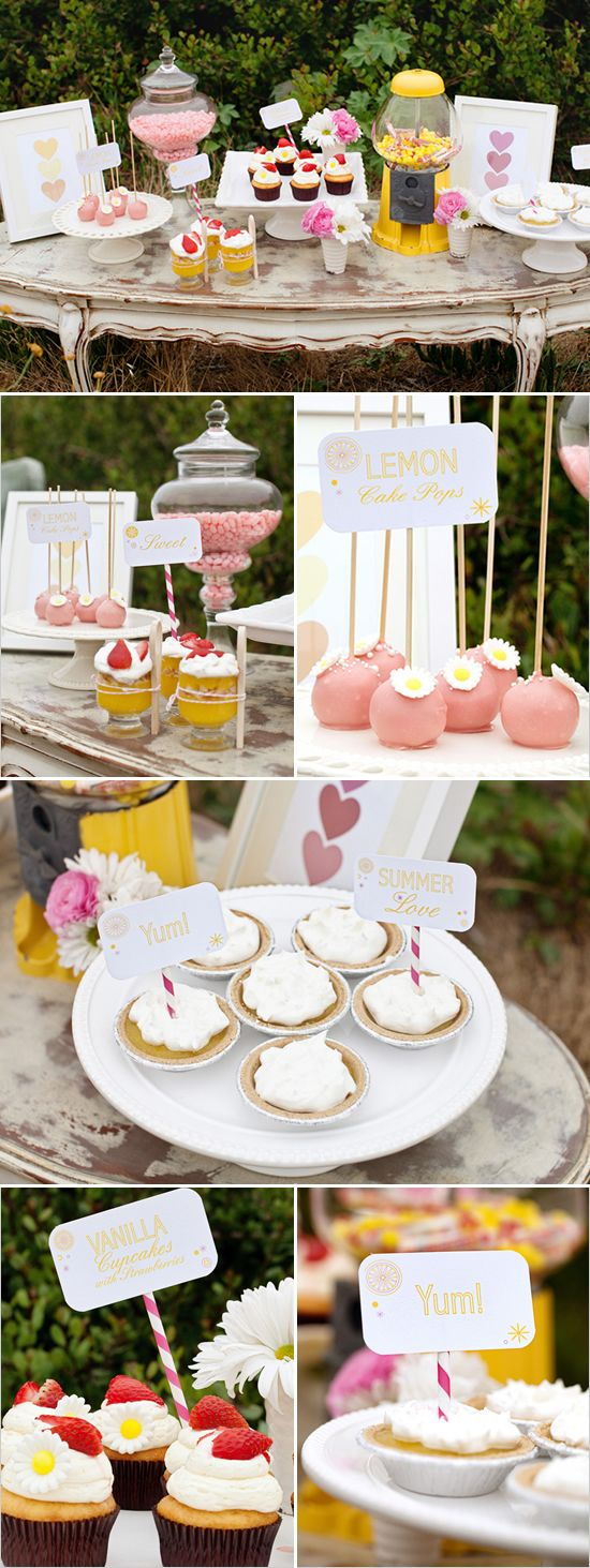 Strawberry Lemonade Wedding (This would make a great shower or birthday party.)
