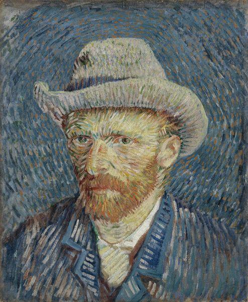Self-Portrait with Grey Felt Hat, 1887, Vincent van Gogh, Van Gogh Museum, Amsterdam (Vincent van Gogh Foundation)