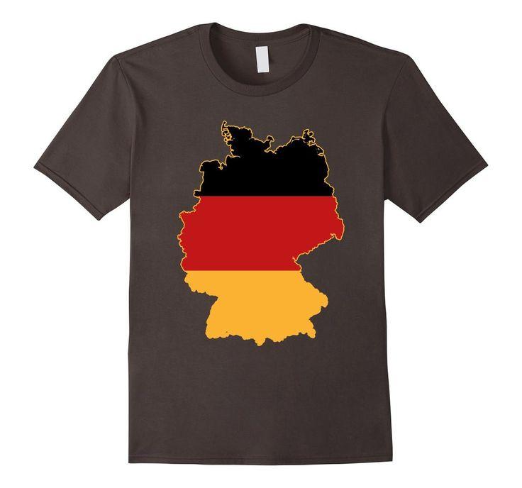 Germany Flag Map T shirt Deutschland Flagge Karte Tee