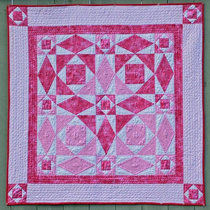 """""""Hearts Entwined Quilt Pattern""""  ...~Thinking: this pieced on one side & the other heart pattern pieced on the other so the boarders match-up.  Heart motif quilted on the blocks & straight/coordinating quilting on the boarders."""