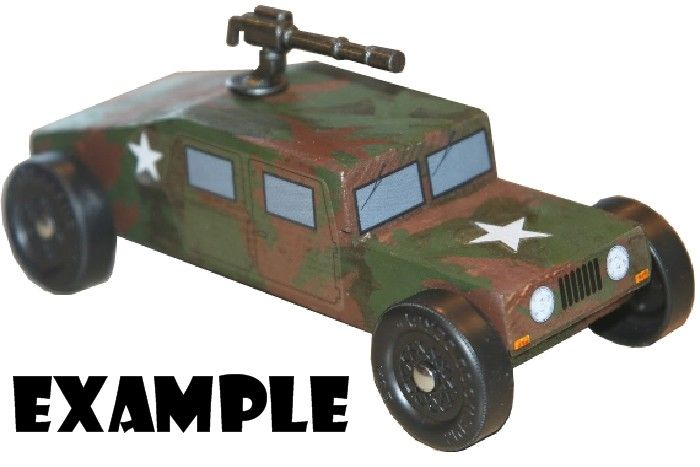 Revell Military Racer Humvee Pinewood Derby Car Kit Hummer