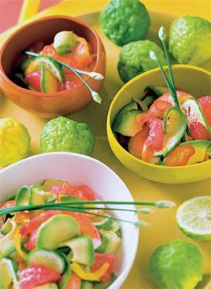 Salat med grapefrugt, avocado og rejer - GRØNT - Opskrifter - Mad og Bolig